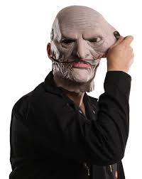 corey taylor slipknot mask removable upper face costume latex gray