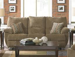 Reclining Fabric Sofa Gavin Reclining Sofa With Drop Table In Desert Color Fabric