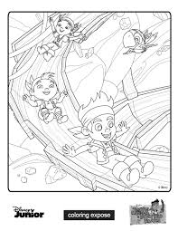 cubby jake neverland pirates coloring pages coloring
