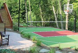 Backyard Tennis Court Cost Innovative Ideas Sport Court Cost Pleasing How Much Does Something