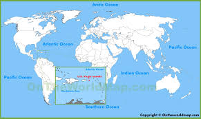 Caribbean Ocean Map by U S Virgin Islands Location On The World Map
