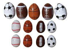 sports easter eggs 8 plastic easter eggs decorated like sports balls football
