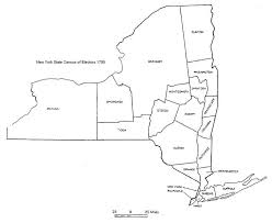 map new york state new york state census of electors map 1795 genealogy