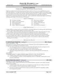 finance resume template sle resume for financial services shalomhouse us