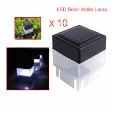 solar powered fence post lights 10pcs led solar powered fence post cap light outdoor garden yard