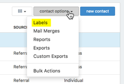 how do i create mailing labels or envelopes in redtail helpdesk