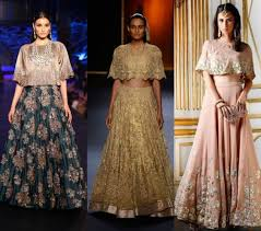 cape designs cape style lehenga designs