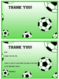 Soccer Thank You Card Template printable soccer thank you notes printable treats