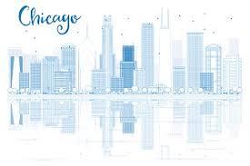 chicago city skyline silhouette illustrations creative market