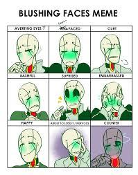 Blushing Meme - blushing faces meme nt by bunnymuse on deviantart