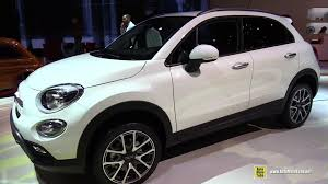 2015 fiat 500x white colour exterior and interior walkaround