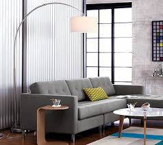 Pottery Barn Arc Lamp by Minimalist Side Table And Modern Arc Floor Lamp Living Room Idea