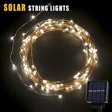 solar string lights betterhome 120 leds outdoor solar powered led string lights 19ft
