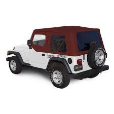 jeep wrangler 4 door maroon sierra offroad 2003 06 jeep wrangler tj soft top in bordeaux twill
