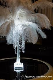 white ostrich feather centerpieces how to make a glam diy feather centerpiece
