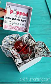 ring pop boxes he popped the question bridesmaid ring pop idea free