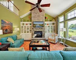 teal green orange living room houzz