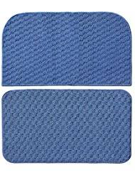 amazon com blue kitchen rugs kitchen table linens home