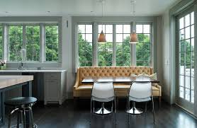 Curved Banquette Kitchen Traditional With Banquette Seating Kitchen Contemporary With Industrial Faucet
