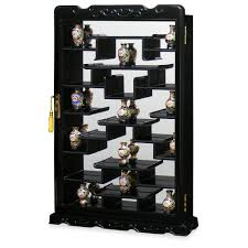 Wall Mounted Curio Cabinet Amazon Com Rosewood Wall Curio Display Cabinet Dark Cherry