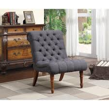Living Room Occasional Chairs by Tufted Armless Gray Accent Chair