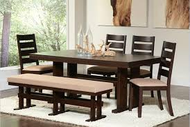dining room tables with benches and chairs lovable modern dining table with bench dining room tables fancy