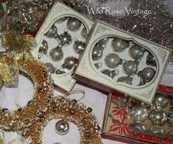 wild rose vintage vintage christmas mercury glass ornaments