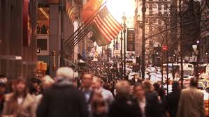 of manhattan anonymous crowd york city walking in busy of