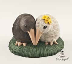 bird cake topper kiwi birds wedding cake topper my custom cake topper
