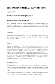 Technology Transfer Resume Safety Critical Systems Problems Process And Practice