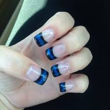 thin blue line nail design in support of my amazing leo leow u0027s