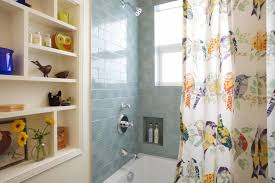 shower curtain ideas for small bathrooms bathroom ideas blue subway tile bathroom with small bathroom
