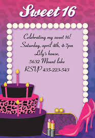 sweet 16 party invitations templates oxsvitation com