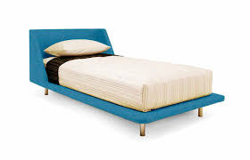 Modern Single Bed Frame Double Bed Single Contemporary Fabric Nook Blu Dot