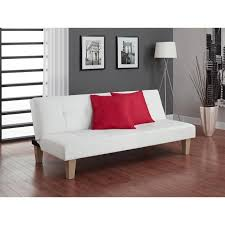 Tufted Faux Leather Sofa by Cheap Faux Leather Sofa Bed Futon With Chrome Feet