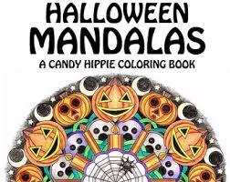 halloween mandala coloring mooneye printable