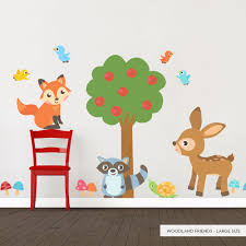 43 woodland wall decals woodland friends printed wall decal woodland wall decals