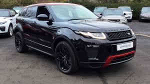 land rover evoque black convertible used land rover range rover evoque 2 0 td4 ember special edition