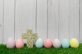 pastel easter eggs pastel easter eggs with cross stock photo image of wood colored
