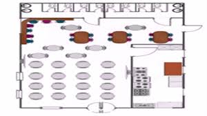 Coffee Shop Floor Plans Restaurant Floor Plan Vector Youtube