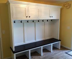 Built In Storage Bench Mudroom Lockers With Bench Perfect Custom Builtin Lockers In Mud
