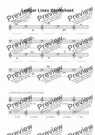 ledger lines worksheet download sheet music pdf file