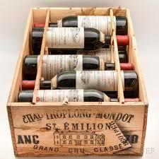 learn about chateau troplong mondot chateau troplong mondot 1970 11 bottles owc sale number 3006b