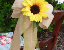 Diy Chair Sashes Sunflower Pew Bows Etsy
