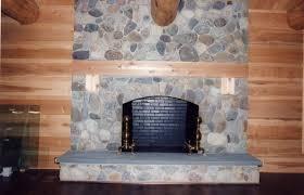 Stacked Stone Around Fireplace by Fieldstone Fireplace Interior Design