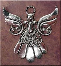 tibetan silver pendant necklace images Large angel necklace everyday silver angel jewelry jpg
