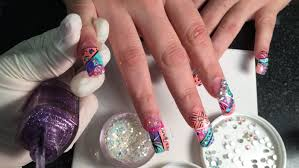 super long acrylic nails with exotic nails design 2015 part 2