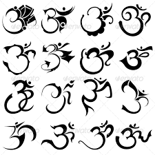 hindu religious sign aum or om vector designs pack om tattoo