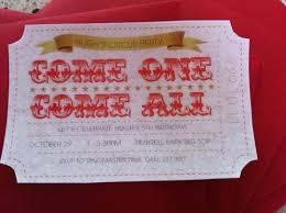 circus ticket invitation templates free