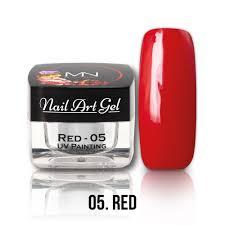 uv painting nail art gel 05 red 4g uv painting nail art